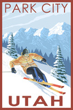 Park City  Utah - Downhill Skier