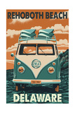 Rehoboth Beach  Delaware - VW Van