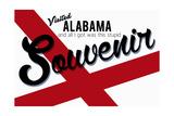 Visited Alabama - Authentic Souvenir