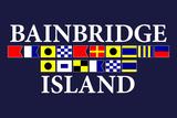 Bainbridge Island  Washington - Nautical Flags