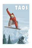 Taos  New Mexico - Jumping Snowboarder