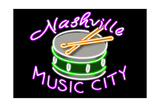 Nashville  Tennesse - Neon Drum Sign