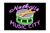 Nashville  Tennesse - Neon Drum Sign