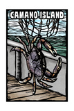 Camano Island  Washington - Dungeness Crab - Scratchboard