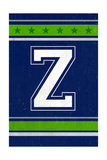 Monogram - Game Day - Blue and Green - Z