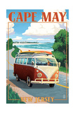 Cape May  New Jersey - VW Van Coastal Drive