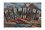 Camp Timberline  Colorado - Large Letter Scenes