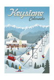 Keystone  Colorado - Retro Ski Resort