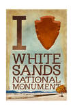 I Heart White Sands National Monument  New Mexico