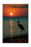 Florida - Heron and Sunset