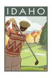 Golfer Scene - Idaho