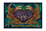 Waldport  Oregon - Dungeness Crab Mosaic