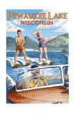 Water Skiers - Pewaukee Lake  Wisconsin