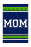 Monogram - Game Day - Blue and Green - Mom