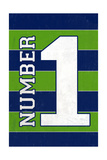 Monogram - Game Day - Blue and Green - Number 1