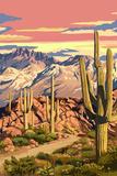 Sunset Desert Scene