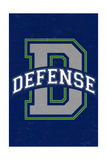 Monogram - Game Day - Blue and Green - Defense