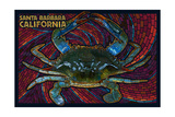 Santa Barbara  California - Blue Crab Mosaic