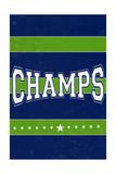 Monogram - Game Day - Blue and Green - Champs