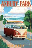 Asbury Park  New Jersey - VW Van Coastal Drive