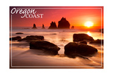 Oregon Coast - Rocks and Sunset