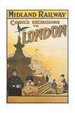 Midland Railway - London Vintage Poster
