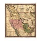 Texas  Oregon  and California - Vintage Map