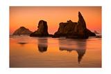 Rocky Beach Orange Sunset