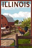 Illinois - Barnyard Scene