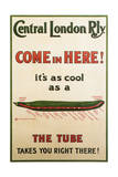 Central London Underground Railway - Cucumber Vintage Poster