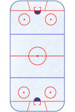 Hockey Rink Layout Sports Poster