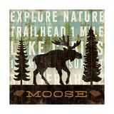Simple Living Moose Giclée premium par Michael Mullan
