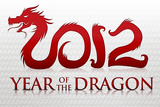 2012 Year of the Dragon Silver Poster