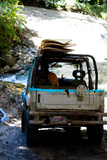 Jeep Going Surfing in Costa Rica Photo Poster Print
