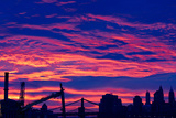 Amazing Sunset over Lower Manhattan Photo Poster Print