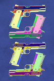 Guns Blue Pop-Art Poster