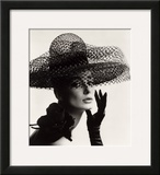 Tania Mallet in a Madame Paulette Stiffened Net Picture Hat  1963