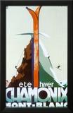 Eté-hiver Chamonix Mont-Blanc Reproduction encadrée par Henry Reb