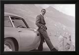 James Bond: Aston Martin Reproduction encadrée