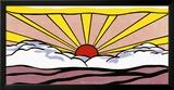 Lever du soleil, vers 1965 Reproduction encadrée par Roy Lichtenstein