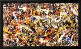 Convergence Reproduction encadrée par Jackson Pollock