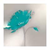 Aqua Platinum Petals I