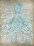 Spa Octopus I Reproduction d'art par Jennifer Goldberger