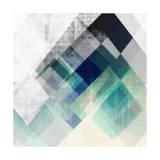 Teal Mountains I Reproduction d'art par Amy Lighthall