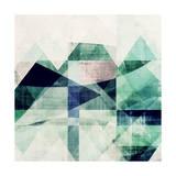 Teal Mountains III Reproduction d'art par Amy Lighthall
