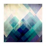 Teal Mountains II Reproduction d'art par Amy Lighthall