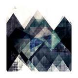 Teal Mountains IV Reproduction d'art par Amy Lighthall