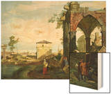 Capriccio with Motifs from Padua  circa 1756