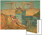 The Drawbridge at Arles with a Group of Washerwomen  c1888