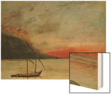 Sunset on Lake Geneva  1874